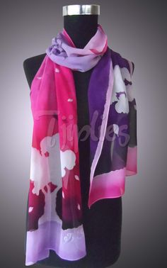 This express how beautiful the night is...on Silk scarf <br /> it's a ready stock