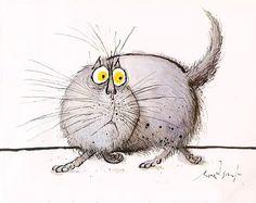 The Original Cartoon Canon of Cat Memes: Legendary British Artist Ronald Searle's 1960s Drawings