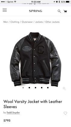 Sweet varsity jacket.