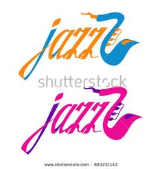 "Vector hand writing logo ""Jazz"""