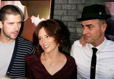 Parker Posey,Melville Poupaud,Justin Theroux at screening of Broken English
