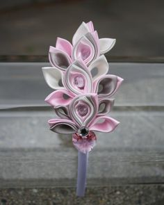 Custom Pink-Ice Kanzashi headband