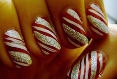 peppermint nails - so fun!