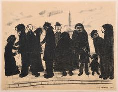 Lowry Shapes & Sizes Lithograph on paper Claude Monet, Pablo Picasso, Vincent Van Gogh, English Artists, Art Drawings Sketches Simple, Soul Art, Art Boards, Printmaking, My Arts