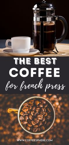 Before you start using your French press, get these coffee beans. French Press, Best Coffee, Coffee Beans, Coffee Maker, Good Things, Coffee Maker Machine, Coffee Percolator, Coffee Making Machine, Coffeemaker