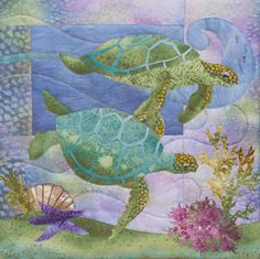 "McKenna Ryan ""Sea Breeze"" The Nerdles (Block 1) Turtles Ocean Starfish, Quilting. $11.50, via Etsy."