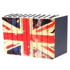 Union Jack Flag Decorative Books