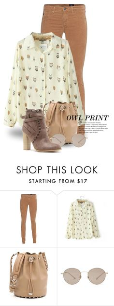 """""""Owl Print 2292"""" by boxthoughts ❤ liked on Polyvore featuring AG Adriano Goldschmied, JVL, Alexander Wang and Gucci"""