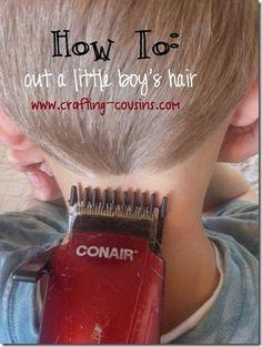 How To: cut a little boy's hair.