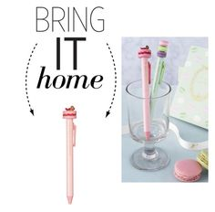 """""""Bring It Home: Ladurée Ispahan Ballpoint Pen"""" by polyvore-editorial ❤ liked on Polyvore featuring interior, interiors, interior design, home, home decor, interior decorating, Ladurée and bringithome"""