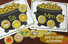 Pot O' Gold activities for letters/sounds, word families, and digraphs!