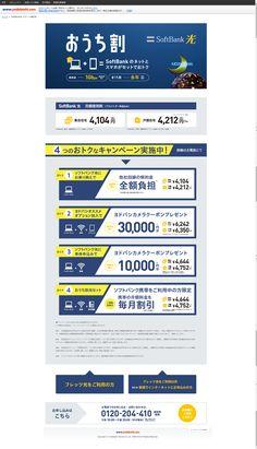 おうち割、SoftBankのネットとスマホがセットでおトク!SoftBank光 超高速:通信速度最大1Gbps おうち割:割引期間 永年