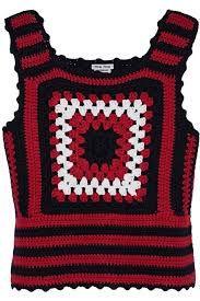 Resultado de imagem para miu miu crochet vest