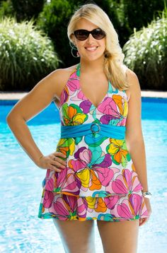 The Streamers Aqua Controlfit Plus Size Swimsuit #TAST7A by TYR is ...