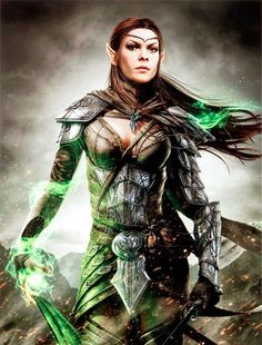 Warrior with her round shield. Celtic women