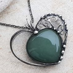 Heart Jewelry, Metal Jewelry, Antique Jewelry, Stained Glass, Tiffany, Gemstone Rings, Pendants, Pendant Necklace, Sterling Silver