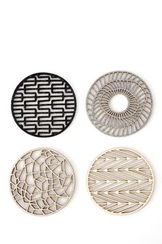 would be a nice pattern for a hand tattoo .... Geometric Coasters