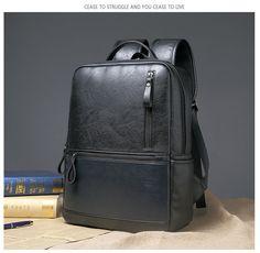 Men's Retro Casual Fashion Handbag Travel Outdoor Leather Backpack Laptop Bags | eBay