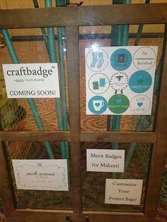 Craftbadge coming soon by Park Avenue Yarns at Houston Fiber Fest