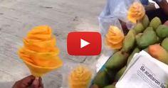 Coupez une mangue décorative en 30 secondes