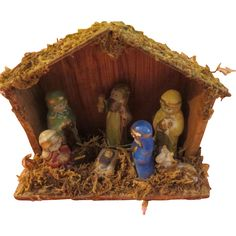 Mary in Blue Nativity Set - X-16-2