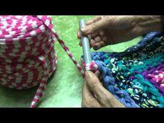 Como hacer alfombra de trapilho a ganchillo