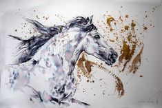 Original Horse Painting by Anna Sidi-yacoub