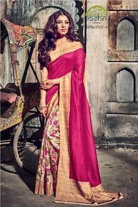New-indian-and-pakistani-bollywood-fancy-party-casual-wear-bhagalpuri-silk-saree