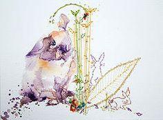 Watercolour Rabbit Painting.