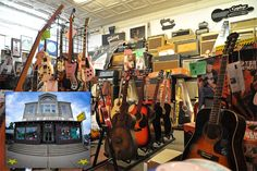 House of Guitars – Rochester, NY  House of Guitars made their name in the 1960s by stocking Gretsch guitars and Vox amps to capitalize on the Beatles craze. Now, the store specializes in vintage and specialty instruments and has earned fans in countless rock stars.
