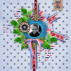 """Sweet-Chick Scrap and Co My page with """"4 th Jully"""" by Bee Création"""