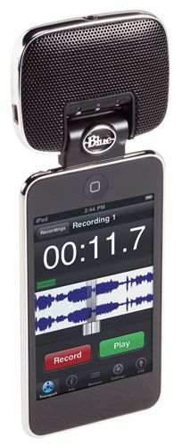 Blue Microphones | Mikey for iPod - ideal for vocals, room mixing for drums, electric guitar amps, and difficult brass instruments