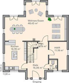 guter Grundriss bis auf die Treppe   evim canım evim   Pinterest ...