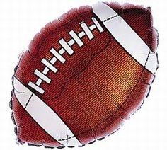 Football Mylar Balloon