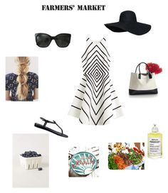 Farmers Market by whatwouldstephdo on Polyvore featuring Halston Heritage, GUESS, Chanel, Maison Margiela and West Elm