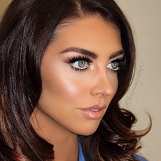 Love this makeup look and long layers