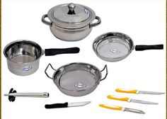 Set of 9 Pcs Delight Induction Friendly Cookware worth Rs.2399 at just Rs.599