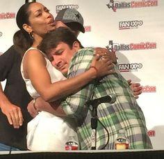 Gina and Nathan at Dallas Comic Con AAAAAAWWWW!