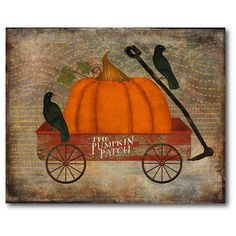 Bird Graphic, Graphic Art, Painted Pumpkins, Painted Rocks, Autumn Painting, Fall Paintings, Pumpkin Painting, Canvas Paintings, Fabric Wall Decor