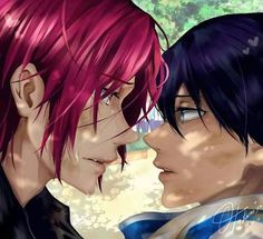 Image result for free rin x haru