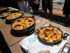 Concurso de paellas en el #camping Playa de #Isla #Cantabria  #Spain