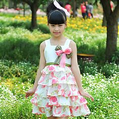 elegante vestido rosa em camadas – BRL R$ 92,74