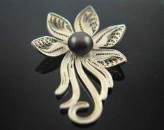 Filigree Pendant-Amethyst pendant-Amethyst necklace-silver