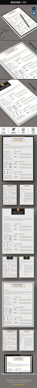 Resume Template - Resume Builder - CV Template - Free Cover Letter
