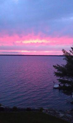Sunset on Gull Lake, MN