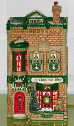 Department 56 Christmas Shop Snow Village 50970 Handpainted Ceramic Collectable $9.00