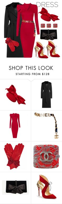 """Pretty bow ties"" by ellenfischerbeauty ❤ liked on Polyvore featuring Alexander Wang, Posh Girl, Chanel, Gizelle Renee, Ann Taylor and Christian Louboutin"