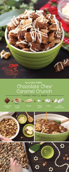 Let the kids help out with this easy holiday snack recipe! Homemade Chocolate Caramel Crunch Chex Mix is full of sweet flavors that make this season extra bright.