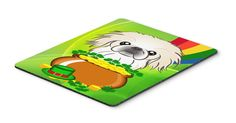 Pekingese St. Patrick's Day Mouse Pad, Hot Pad or Trivet BB1965MP