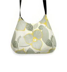 Grey and mustard retro shoulder bag by GabardineCouture on Etsy, 78.00